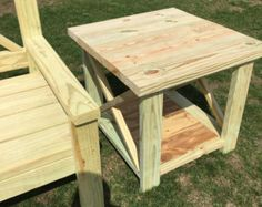 This bench is large and sturdy. 64.5 wide x 26.5 deep x 43.5 tall Each bench will be constructed from pressure treated lumber ready for water seal,