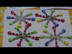Perlensterne / Drahtsterne aus Perlen und Moosgummi - YouTube