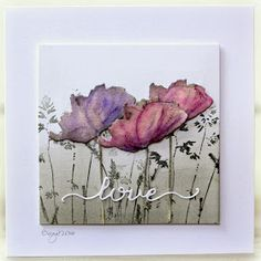 Here´s my card for color challenge on SCS today, pink, purple and grey!     Dies and stamps from Penny Black     Nature's paintbrushes    B...