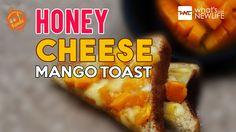 Honey Cheese Mango Toast http://www.whatsnewlife.com/easy-and-delicious-recipe-of-cheese-mango-toast-with-honey/