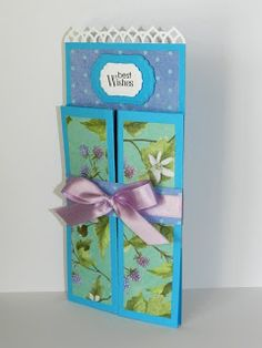 The idea for the Castle-fold card comes from Sarah Edwards  who apparently devised the technique in June 2010. It's a nice simple cut and...