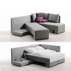 Sofá cama For Guests when there may not be a spare room. Or if we just want to cuddle in the living room. Space Saving Furniture, Cool Furniture, Furniture Design, Futuristic Furniture, Furniture Ideas, Multifunctional Furniture, Furniture Movers, Furniture Outlet, Tiny House Furniture