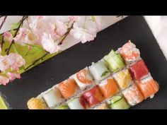 Recipe with video instructions: In the mood for homemade sushi in a hurry? This ice tray hack with change your life! Tempura Sushi, Tempura Batter, Mini Pie Recipes, Sushi Recipes, Healthy Recipes, Diy Sushi, Homemade Sushi, Sushi Ingredients, Cube Recipe