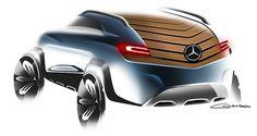 Mercedes GLB on Behance by César Galdón