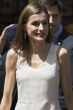 Queen Letizia of Spain attends the Books Fair 2017 at the Retiro Park on May 26, 2017 in Madrid, Spain.