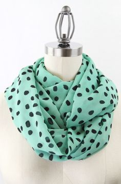 Mint infinity scarf. Aaah so cute I want to eat it.