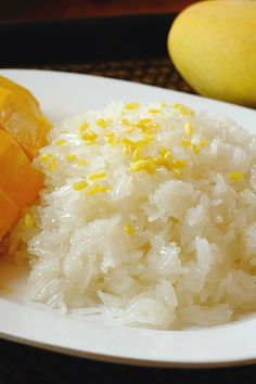 Oh this is my absolute favorite thing from Thailand! Yum! Thai Sweet Sticky Rice With Mango (Khao Neeo Mamuang) Recipe