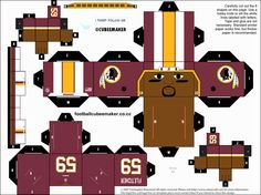 London Fletcher Redskins Cubee by etchings13