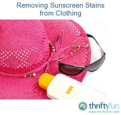 Removing Sunscreen Stains from Clothing