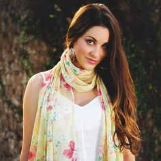 Spring is in the air! Our Orchid collection  features beautiful floral, vibrant tribal, and stylish map prints! Check out all of our new collections on our website and in our Etsy shop! #springscarf #floralprint #scarf #ethicallymade #giveback #flowers #floral #yellowscarf  #model #beautiful #elizabethkoh #style #springfashion #newcollection #vibrant #freshstyle #spring www.elizabethkoh.com