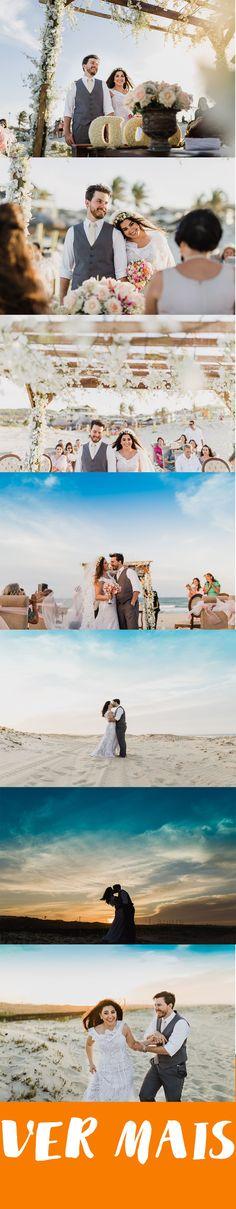 Mini Wedding na Praia em Fortaleza-CE. Inspiração para Mini Wedding na Praia ao Por do Sol.