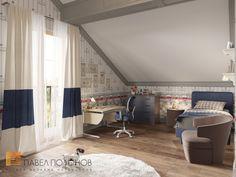 Фото: Детская комната для сына - Интерьер загородного дома в стиле легкой классики, КП «Альпино», 430 кв.м.