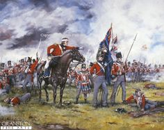 Royal Scots at Waterloo by Brian Palmer. Royal Scots 1st of Foot about to form square around their colours during the Battle of Waterloo.