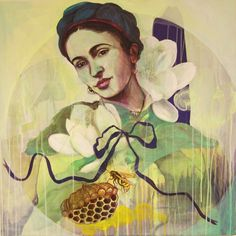 """""""Flowers to Frida"""" By Norwegian artist Gro Mukta Holter True Colors, Colours, Midnight Sun, Graphic Prints, Art Drawings, Disney Characters, Fictional Characters, Artwork, Flowers"""