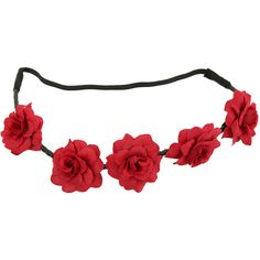 Hot Topic Red Rose Headband ($6.37) ❤ liked on Polyvore featuring accessories, hair accessories, red, rose hair accessories, stretch headbands, red rose headband, stretchy headbands and head wrap headband