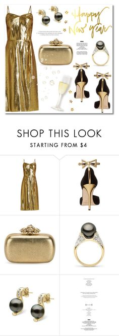 """""""Happy New Year!"""" by pearlparadise ❤ liked on Polyvore featuring HVN, Oscar de la Renta, Alexander McQueen, StyleNanda, newyear, pearljewelry, pearlparadise and year2017"""