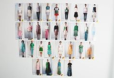 Look board del backstage de Creatures of the wind spring/summer 2013 #nyfw #chinachase