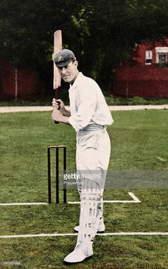 1909 _ Victor Trumper of Australia, featured on a vintage postcard, circa 1909.