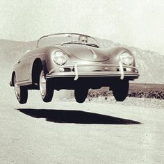 """There was a lot more freedom from a design standpoint, which you can't do anymore in this country, ... Today's drivers are just as brave, just as much gladiators, as we were then."" - Dan Gurney  Riverside 1956 - Dan Gurney, driving a 1600 Porsche Speedster.  #porsche #porschespeedster #speedster #riverside #dangurney #racer #racing #manoftheworld #vintageporsche #classiccars #vintagecars #passion #Padgram"