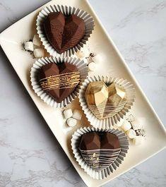 Chocolate Covered Treats, Chocolate Bomb, Chocolate Hearts, Chocolate Gifts, Chocolate Molds, Valentine Desserts, Valentines Day Treats, Gold Dessert, Artisan Chocolate