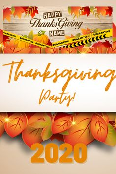 · Celebrate Thanksgiving Banner even in Quarantine Period . The picture shows a Seasonal Thanksgiving design. . This banner can be used to celebrate Happy Thanksgiving even its a quarantined because of the pandemic. . Decorate in style with fall Autumn golden leaves. . This Thanksgiving banner is great for the person who needs Family Thanksgiving Ideas. · The banner can be a backdrop or an additional party decoration. · Made of high-quality vinyl, durable, lightweight. Thanksgiving Banner, Family Thanksgiving, Custom Vinyl Banners, Golden Leaves, Autumn, Fall, Picture Show, Period, Backdrops