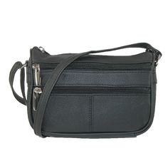 This beautifully crafted leather bag can we worn as a shoulder bag or converted to a cross body. It features 3 exterior zip pockets; 2 in the front and 1 in the back. The main compartment interior is fully lined and has a zippered pocket and slip pocket. This bag is small in size and big in organization.
