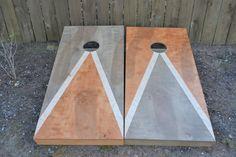 Custom Full Size Stained Cornhole Boards Set by therustysuitcase