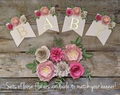 3d Paper Flowers, Paper Flower Garlands, Paper Flower Backdrop, Fake Flowers, Silk Flowers, Paper Peonies, Cool Wedding Cakes, Chic Wedding, Just Married Banner