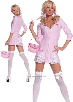 64b60bf50361c Candy Striper Costume Cute Kandi Striper Adult CostumeThis is one sexy  nurse! Costume includes  Dress with sleeves