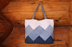 Patchwork denim Cabas sac patchwork sac en par SewManyScraps