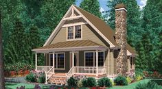 This 1.5 story Craftsman features 950 sq feet. Call us at 866-214-2242 to talk to a House Plan Specialist about your future dream home!