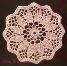 Elizy+Art+Crochet+:+Candle+Doily
