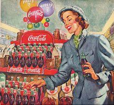 Vintage Coca Cola Ads 1940 | Vintage Coca Cola / a set by sallyedelstein