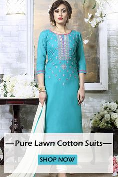 Blue White Cotton Straight Cut Suit http://www.fly2kart.com/blue-and-white-cotton-embroidered-work-straight-cut-suit.html?utm_content=buffer6938c&utm_medium=social&utm_source=pinterest.com&utm_campaign=buffer BIG OFFER SALE UP TO 50% OFF!!! +91-8000800110 CALL OR WHATSAPP