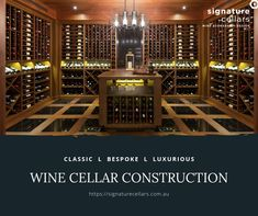 Signature Cellars is a wine cellar company special Storage Area, Wine Storage, Home Wine Cellars, Storage Solutions, Liquor Cabinet, Custom Design, Construction, House Design, Architecture