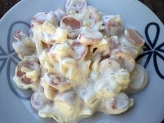 Rubin Konyhája: Hagymás virslisaláta Chef Salad Recipes, Cold Dishes, Hot Dogs, Potato Salad, Onion, Shrimp, Appetizers, Food And Drink, Meals