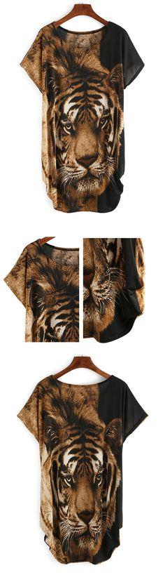 Tiger Print Loose Fit Dress