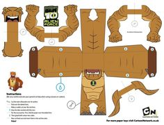 Free Ben 10 printable papercraft (Paper Craft) Figures #free #papercraft