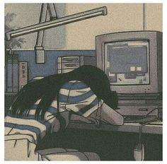 retro anime aesthetic sad