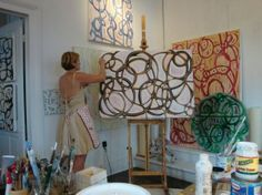 I love seeing artists in their studios (Amanda Stone Talley)