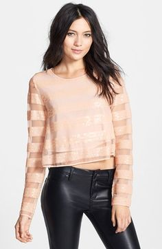 MINKPINK 'Eyes on the Prize' Sequin Stripe Top available at #Nordstrom