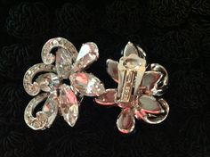 Beautiful Vintage Weiss Clip Earrings Perfect for by Andrewtiques