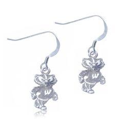 Wisconsin Dangle Earrings by FabFanShop on Etsy, $32.95