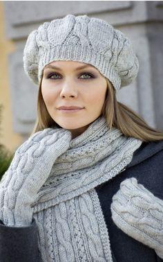 Novita Oy - Neulemalli: Baskeri, huivi ja lapaset Knitting Yarn, Knitting Patterns, Crochet Patterns, Mitten Gloves, Mittens, Knit Crochet, Crochet Hats, Headbands, Knitted Hats
