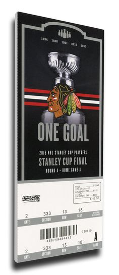 2015 NHL Stanley Cup Final Game 3 Canvas Mega Ticket - Chicago Blackhawks