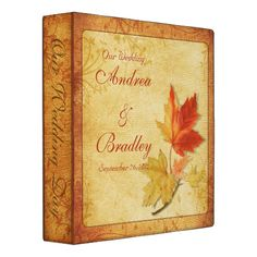Shop Autumn Maple Leaves Wedding Binder created by wasootch. Personalize it with photos & text or purchase as is! Ultimate Wedding Gifts, Unique Wedding Gifts, Unique Weddings, Top Wedding Trends, Fall Wedding, Our Wedding, Wedding Ideas, Autumn Weddings, Wedding Set