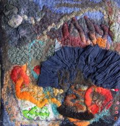 Detail of  Robin Blakney-Carlson's  felt work via Luckstone feltworks Studio