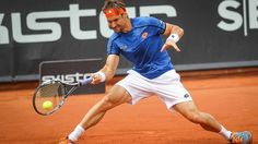 David Ferrer battles hard to overcome qualifier Calvin Hemery on Thursday in Bastad. SkiStar Swedish Open