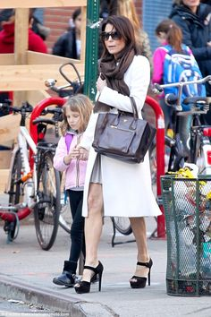 On Thursday the Real Housewives Of New York City vet was seen teetering on six inch heels as she walked in Manhattan with her daughter Bryn, who she had with ex Joasn Hoppy. Housewives Of New York, Real Housewives, Bethenny Frankel, Cool Outfits, Amazing Outfits, Baby Strollers, Celebrity Style, Daughter, Fashion Styles