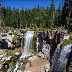 Paulina Falls in the Newberry National Volcanic Monument is a perfect #visitcentraloregon weekend day trip! #waterfalls #beauty #nature